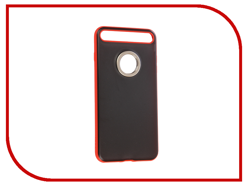 Аксессуар Чехол Rock Ring Holder Case M2 для iPhone 7 Plus Red 46263 аксессуар чехол elari для elari cardphone и iphone 6 plus blue