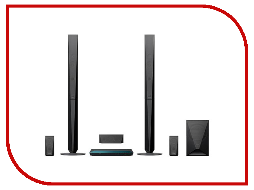 Комплект Sony BDV-E4100 Black домашний кинотеатр sony bdv e6100