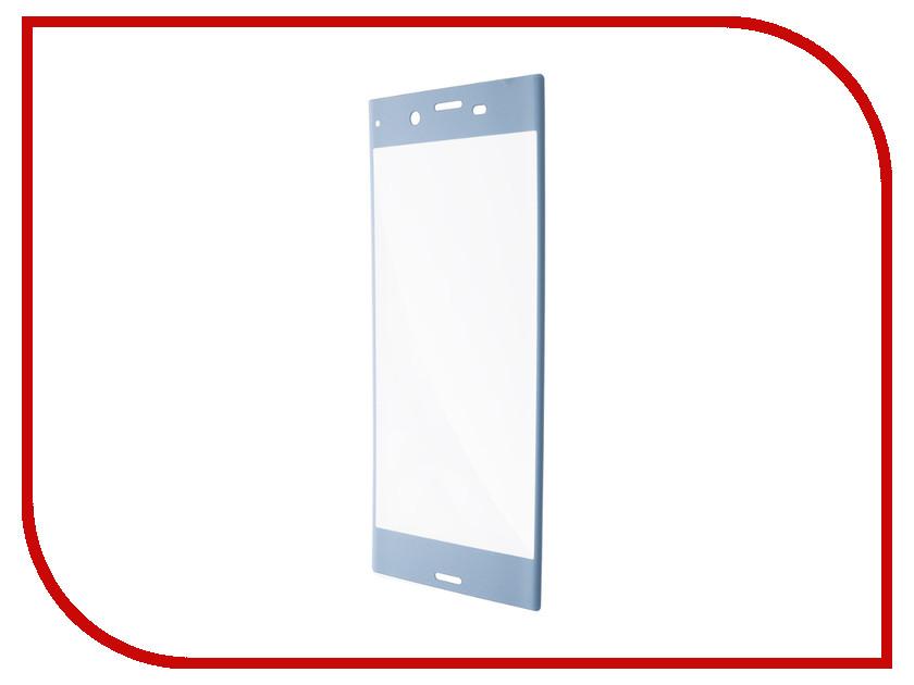 Аксессуар Защитное стекло Sony Xperia XZs BROSCO Light Blue XZS-3D-GLASS-ICEBLUE аксессуар чехол sony xperia xzs brosco pu black xzs book iceblue