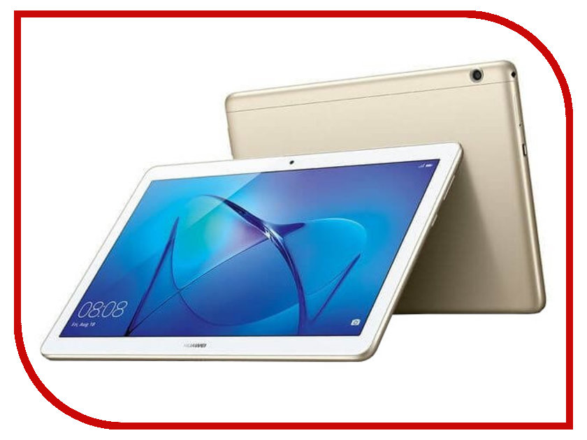 Планшет Huawei MediaPad T3 10 LTE 16Gb AGS-L09 Gold 53018545 (Qualcomm Snapdragon 425 1.4 GHz/2048Mb/16Gb/GPS/LTE/3G/Wi-Fi/Bluetooth/Cam/9.6/1280x800/Android) планшет huawei mediapad m2 8 0 lte 8 16gb белый серебристый wi fi 3g bluetooth lte android m2 801l
