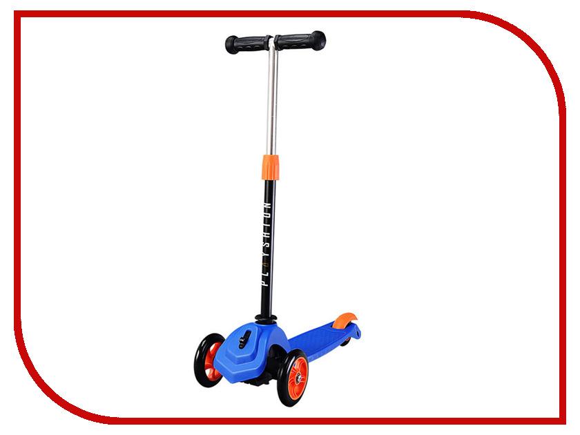 Самокат Playshion Mini Blue с блокировкой колес