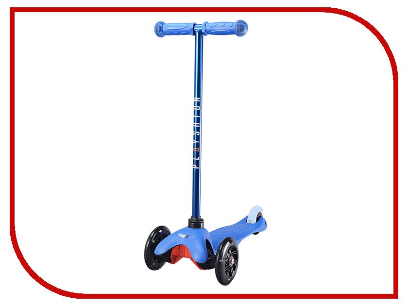 Самокат Playshion Mini Kids LED Blue со светящимися колесами