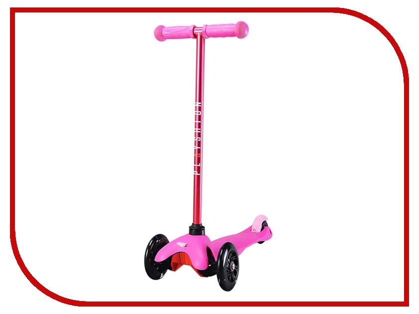 Самокат Playshion Mini Kids LED Pink со светящимися колесами