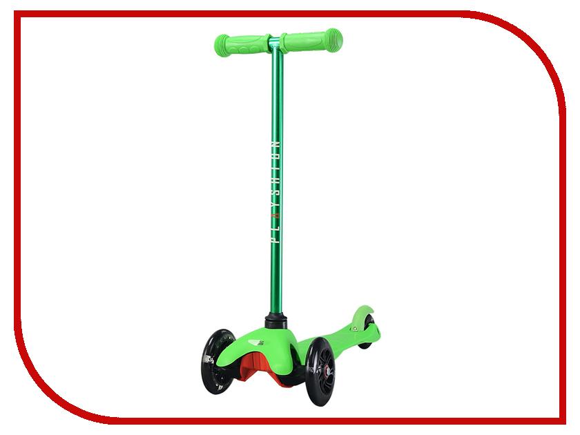 Самокат Playshion Mini Kids LED Green со светящимися колесами
