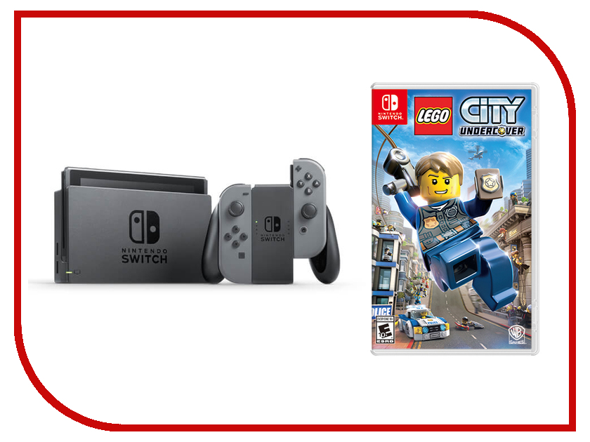 Игровая приставка Nintendo Switch Grey + LEGO City Undercover игровая приставка sony playstation 4 slim 1tb fifa 18 dualshock 4