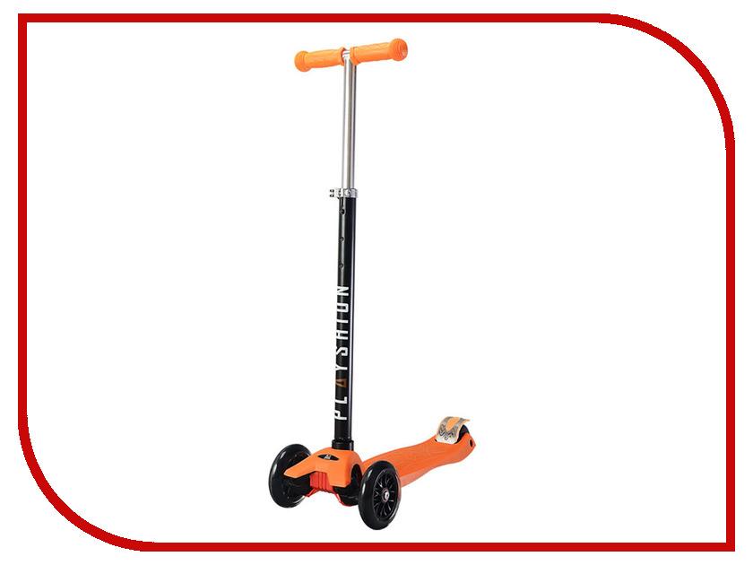 Самокат Playshion Maxi Kids LED Orange со светящимися колесами скейт playshion diamond 22 violet pl ps001 v