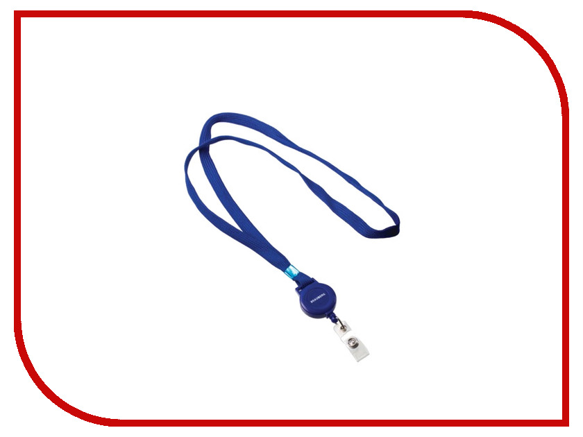 Аксессуар Держатель-рулетка для бейджей Brauberg 235724 Blue