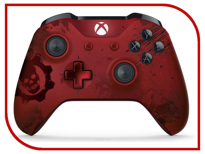 Геймпад Microsoft XBOX One Wireless Controller Gears of War 4 Crimson Omen Limited Edition Red WL3-00003 от Pleer