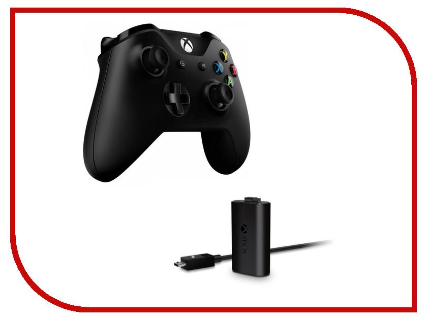 Геймпад Microsoft XBOX One Wireless Controller Black + Play and Charge kit EX7-00007 аксессуары для игровых приставок microsoft xbox one play and charge kit