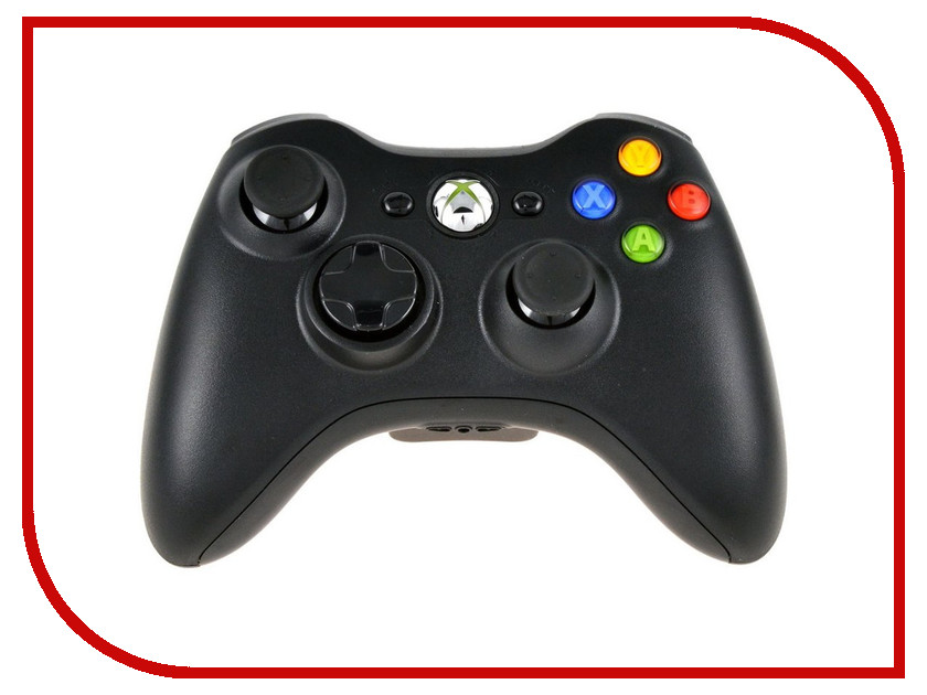 Геймпад Microsoft XBOX 360 Wireless Controller Black NSF-00002 / NSF-00024 gamepad usb wired joypad controller for microsoft for xbox slim 360 for pc for windows7 black color joystick game controller
