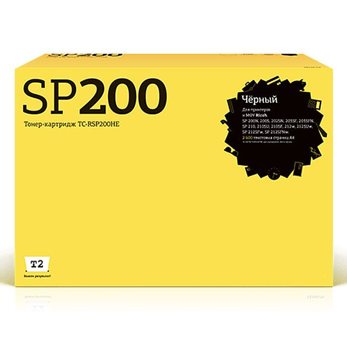 Картридж T2 TC-RSP200HE для Ricoh SP200N/200S/202SN/203SF/203SFN/210/210SU/210SF/212w/212SUw/212SFw/212SFNw Black с чипом
