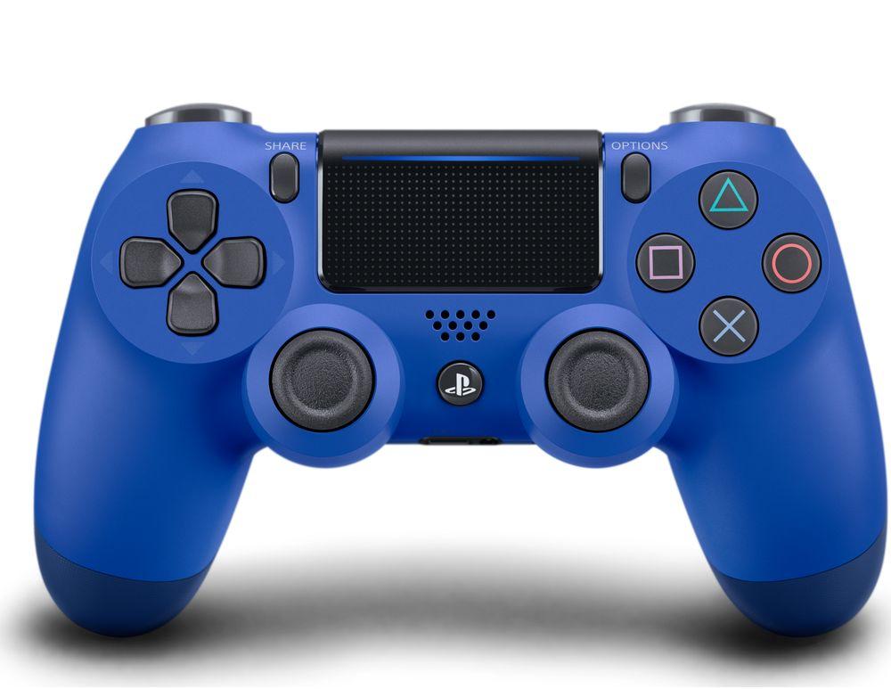 Геймпад Sony DualShock 4 V2 Blue CUH-ZCT2E / PS719894155 игровая консоль sony playstation 4 slim с 1 тб памяти игрой fifa 18 и 14 дневной подпиской playstation plus cuh 2108b черный