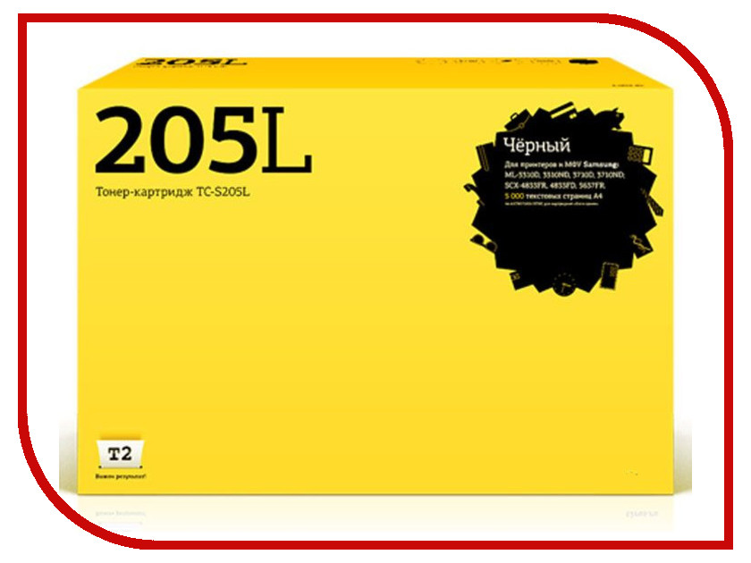 Картридж T2 TC-S205L для Samsung ML-3310D/3310ND/3710ND/3710D/SCX-4833FR/4833FD/5637FR с чипом картридж для принтера t2 tc hcf413a с чипом purple