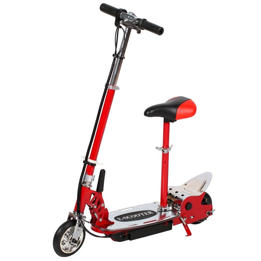 цена Электросамокат Tanko T8 Red с сиденьем онлайн в 2017 году