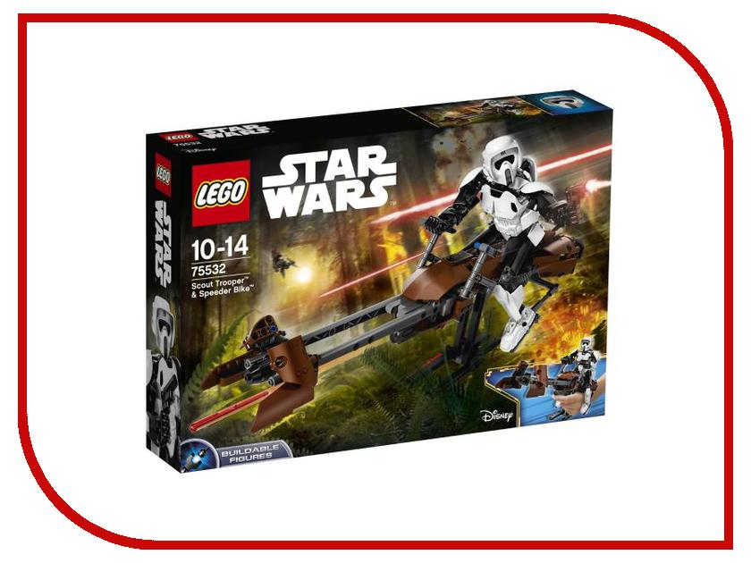 Конструктор Lego Constraction Star Wars Штурмовик-разведчик на спидере 75532 конструктор lego constraction star wars командир штурмовиков 75531