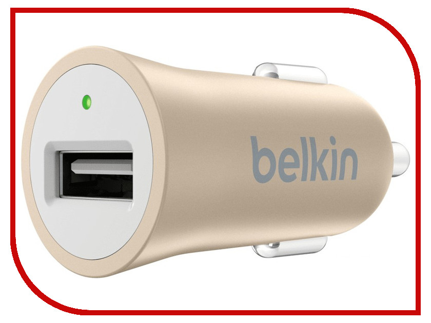 Зарядное устройство Belkin Car MicroCharger F8M730BTGLD Gold belkin wemo