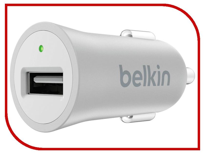 Зарядное устройство Belkin Car MicroCharger F8M730BTSLV Silver belkin wemo