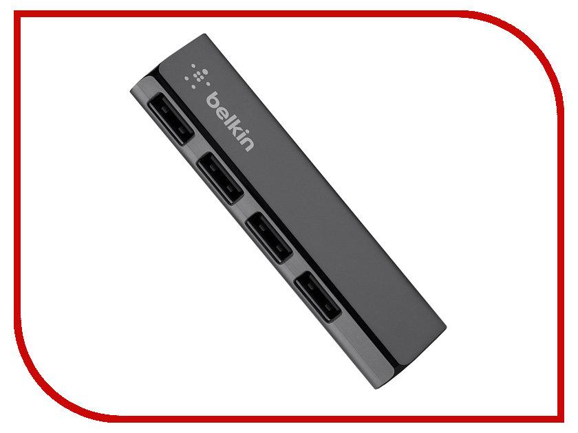 Хаб USB Belkin F4U040CW Ultra-Slim USB 2.0 4 Port Black belkin подставка cooling stand