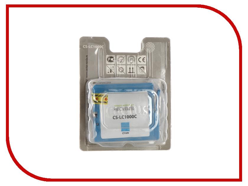 Картридж Cactus Light Blue для DCP 130C/330C/MFC-240C/5460CN картридж cactus lc 1000bk для brother dcp 130c 330с mfc 240c 5460cn черный