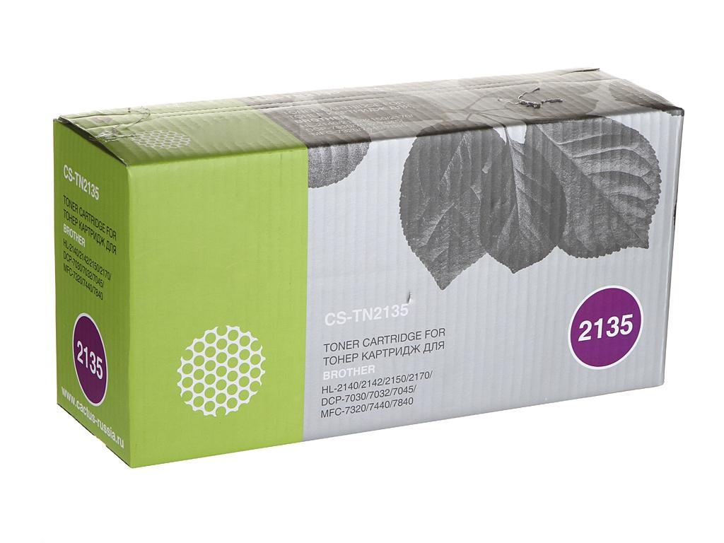 цена Картридж Cactus CS-TN2135 Black для Brother DCP-7030/7030R/7032/7032R/7045/7045NR/HL-2140/214 онлайн в 2017 году