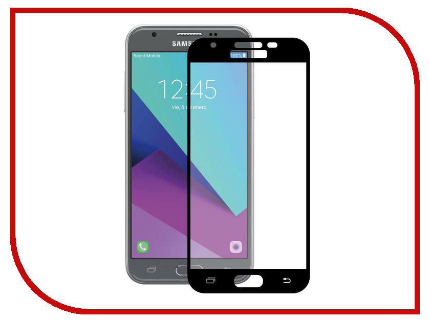 цена на Аксессуар Закаленное стекло Samsung Galaxy J3 (2017) DF Full Screen sColor-20 Black