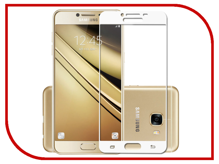 Аксессуар Закаленное стекло Samsung Galaxy J3 (2017) DF Full Screen sColor-20 White аксессуар закаленное стекло samsung galaxy a3 2017 df fullscreen scolor 15 black