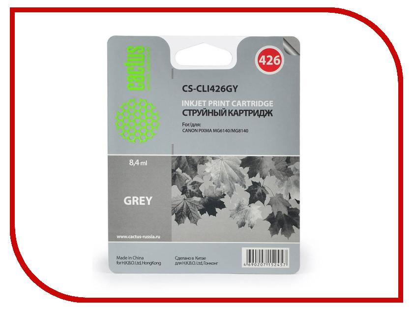 Картридж Cactus Grey для Pixma MG6140/MG8140 картридж совместимый для струйных принтеров cactus cs pgi29y желтый для canon pixma pro 1 36мл cs pgi29y