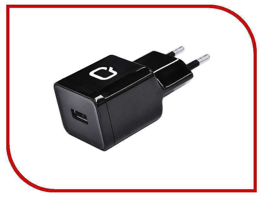 Зарядное устройство Qumo Energy 1A USB APPLE 8pin Black