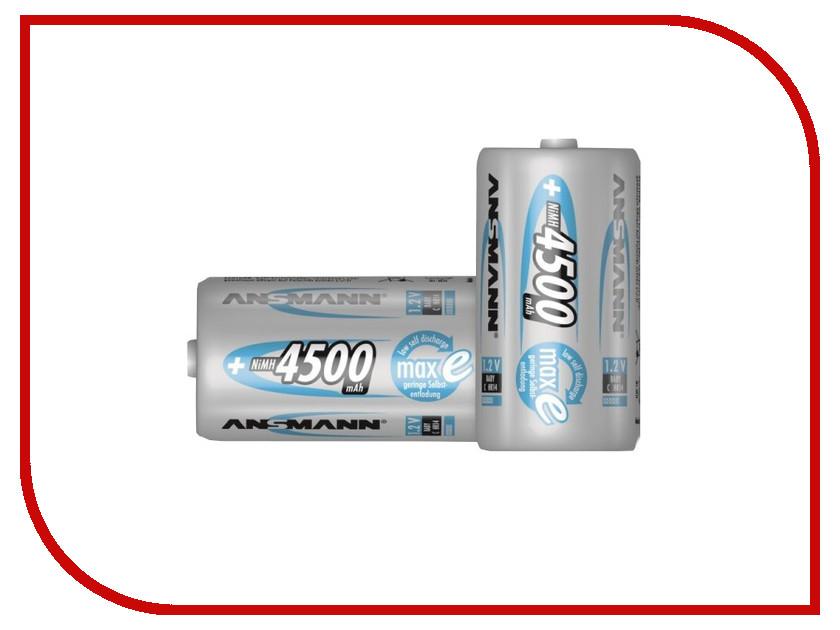 Аккумулятор C - Ansmann maxE C4500 4500 mAh BL2 NiMH (2 штуки) 5035352 аккумулятор d ansmann r20 10000 mah ni mh бочка 2 шт 5030642