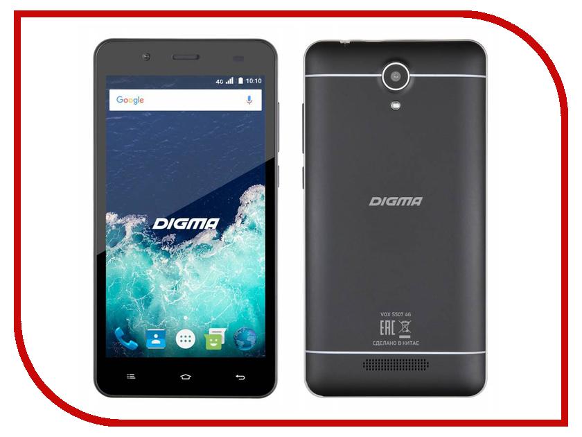 Сотовый телефон Digma Vox S507 4G Black сотовый телефон digma vox s507 4g white