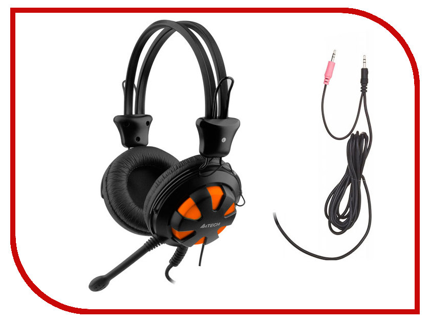 A4Tech HS-28 Orange-Black a4tech hs 50