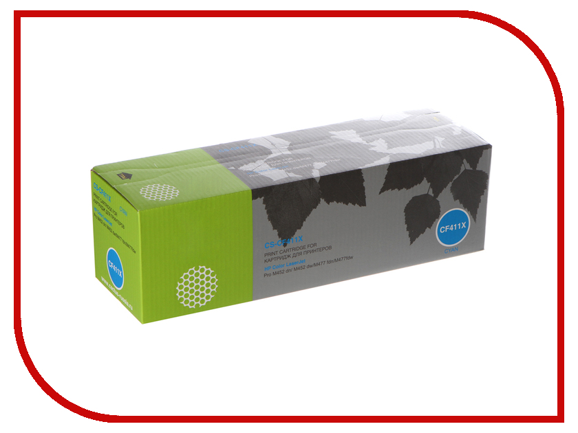 Картридж Cactus Cyan для CLJ Pro M452dn/M452dw/M477fdn/M477fdw картридж sakura yellow для laserjet pro m452nw m452dn m477fnw m477fdw m477fdn m377dw