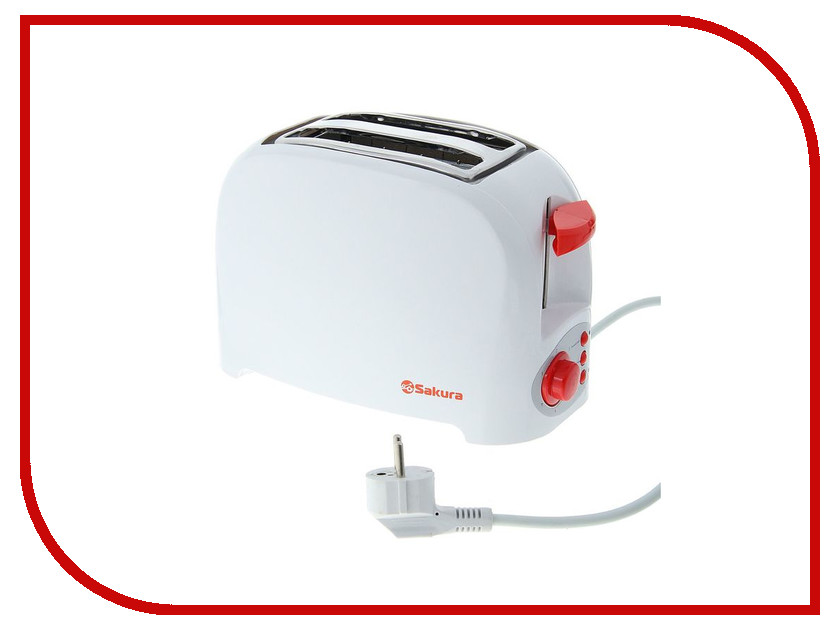 Тостер Sakura SA-7601R White-Red hs 7601