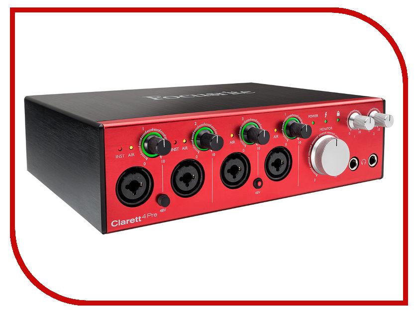 Аудиоинтерфейс Focusrite Clarett 4Pre Thunderbolt