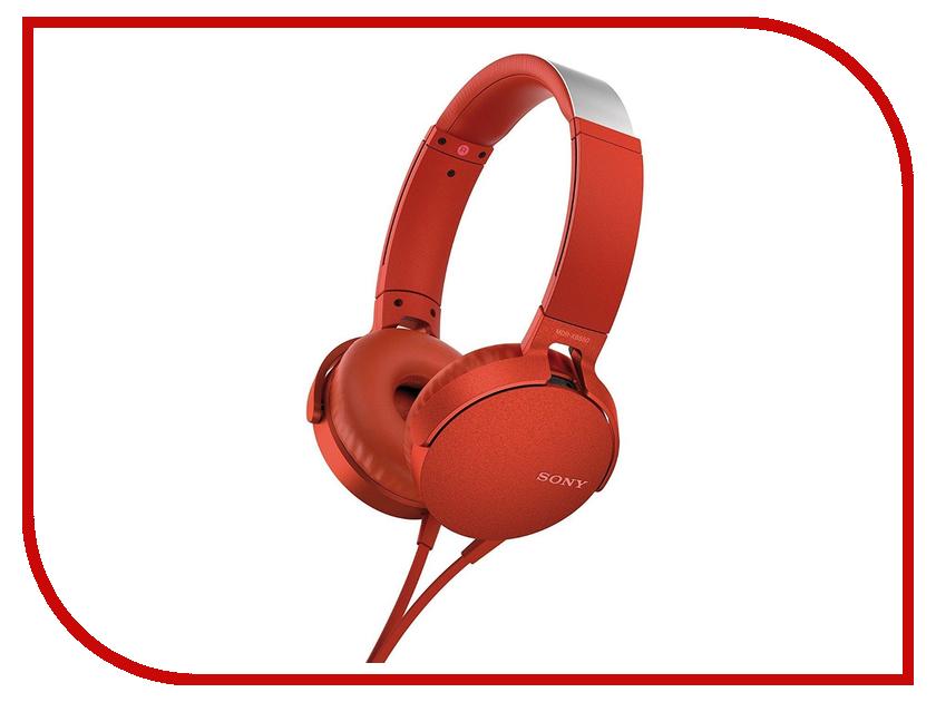 Sony MDR-XB550AP Red наушники sony mdr xb550ap black