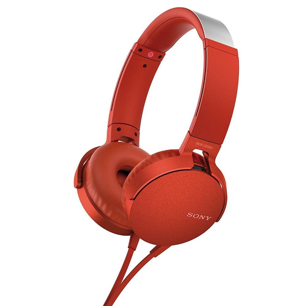 цена Sony MDR-XB550AP Red онлайн в 2017 году