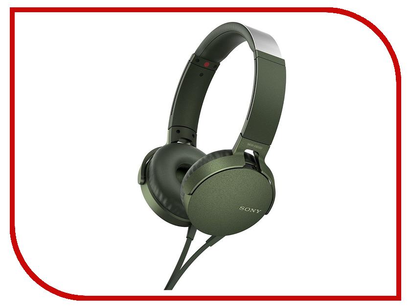 Sony MDR-XB550AP Green наушники sony mdr xb550ap black