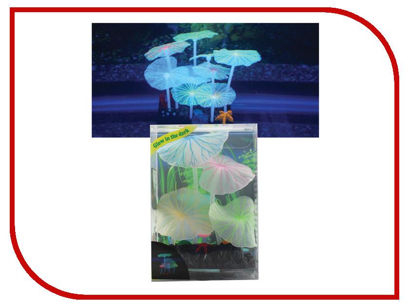 Аксессуар Декор для аквариума Jelly-Fish Листья лотоса Blue 8154