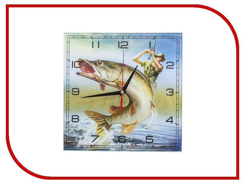 Часы Эврика Рыбалка 98111 часы эврика котенок с рыбкой 98106