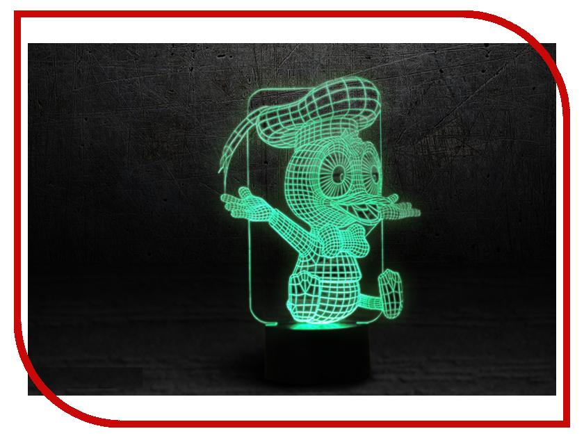 3D лампа 3d Lamp Утенок
