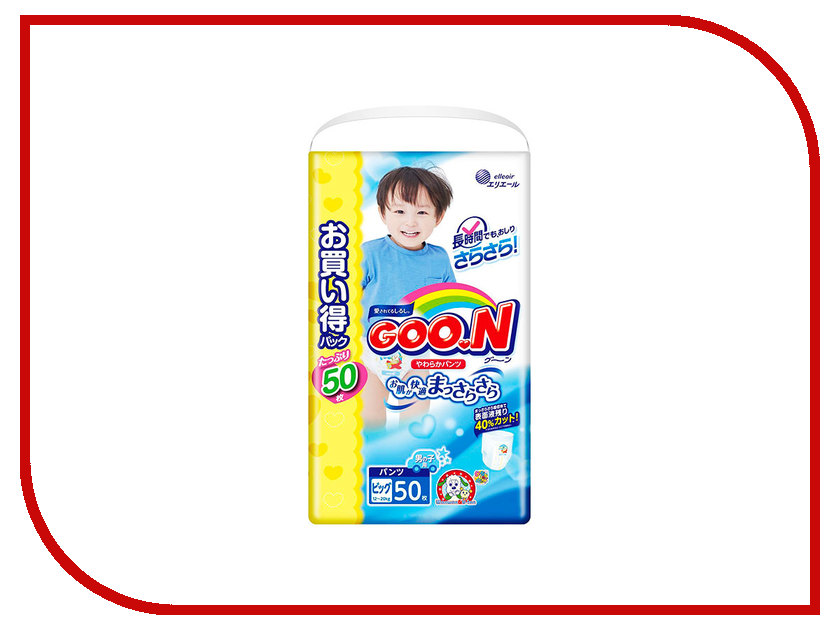 Подгузники Goo.N Ultra 6-11кг 80шт 4902011751468