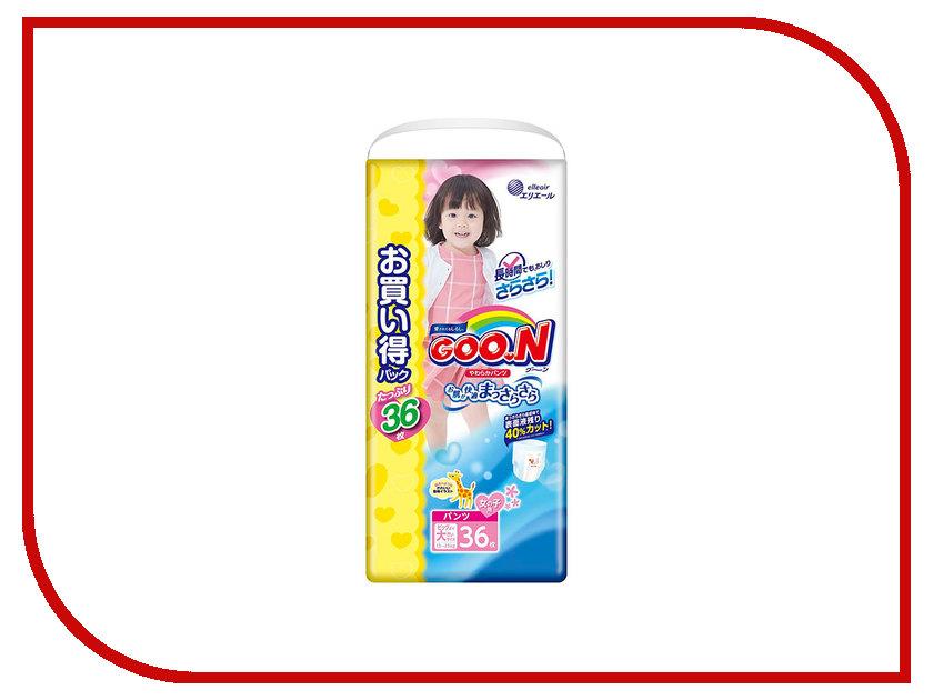 Подгузники Goo.N Ultra Jumbo Pack Трусики 13-25кг 36шт для девочек 4902011751567