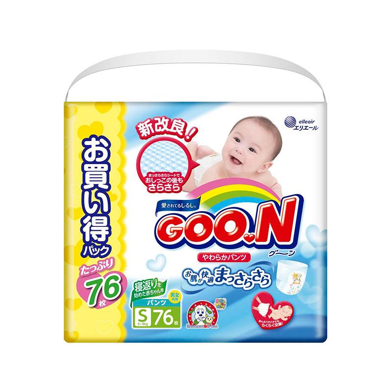 Подгузники Goo.N Ultra Jumbo Pack Трусики 4-9кг 76шт S 4902011850659 / 4902011855050