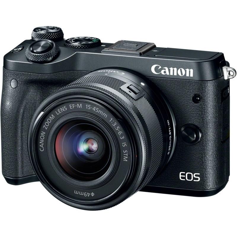 Фотоаппарат Canon EOS M6 Kit EF-M 15-45 IS STM Black цифровой фотоаппарат со сменной оптикой canon eos m5 ef m 15 45mm is stm