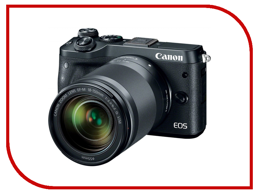 Фотоаппарат Canon EOS M6 Kit EF-M 18-150 IS STM Black фотоаппарат зеркальный canon eos 200d ef s 18 55 is stm kit black