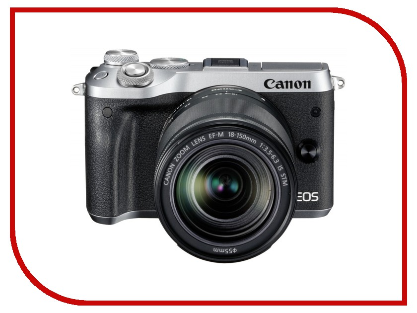 Фотоаппарат Canon EOS M6 Kit EF-M 18-150 IS STM Silver фотоаппарат canon eos 1200d kit ef s 18 55 is ii black