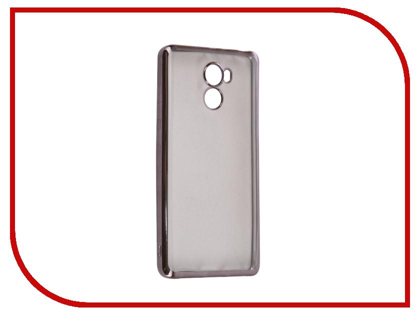 Аксессуар Чехол Xiaomi Redmi 4 iBox Blaze Silicone Black frame аксессуар чехол xiaomi redmi 1s krutoff silicone transparent black 10289