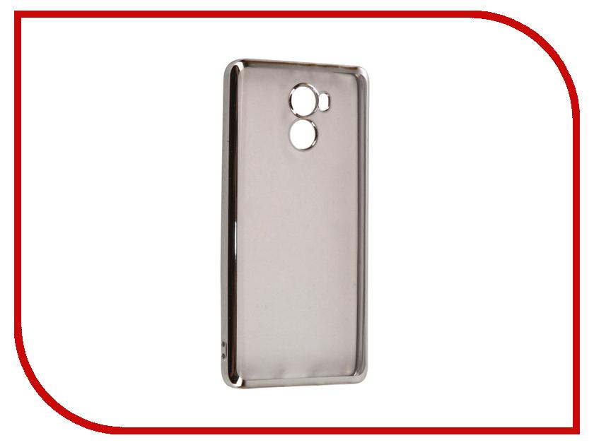 Аксессуар Чехол Xiaomi Redmi 4 iBox Blaze Silicone Silver frame