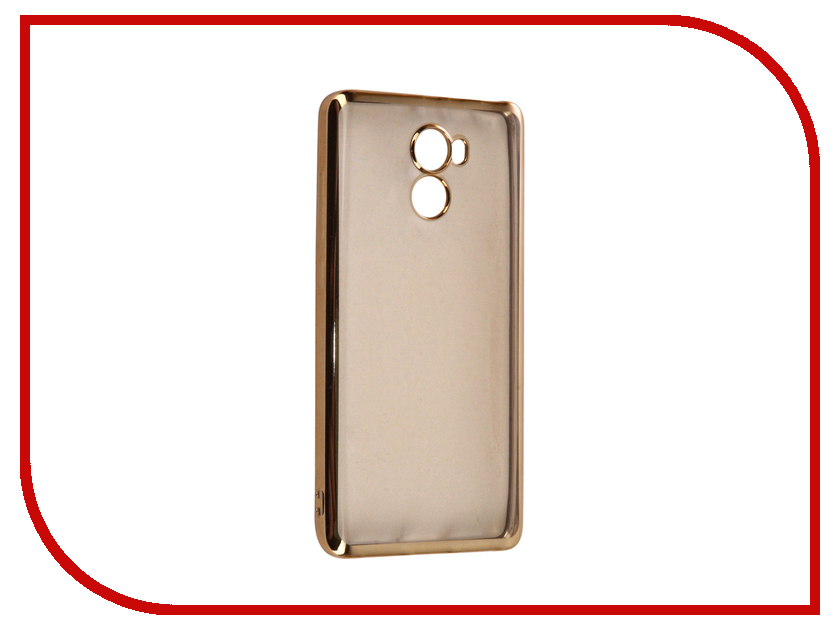 Аксессуар Чехол Xiaomi Redmi 4 iBox Blaze Silicone Gold frame