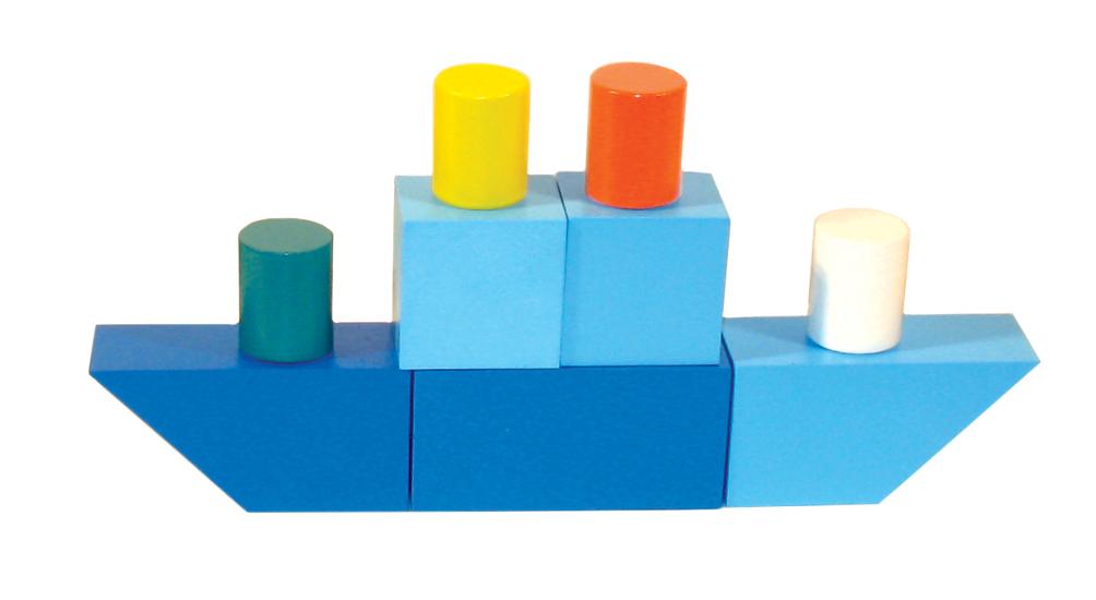 Кубики Alatoys Городок, окрашенный 23 дет. К1601 конструктор stellar городок 23 дет 4011